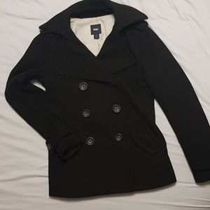 Gap Double Breasted Peacoat - black, szie XS